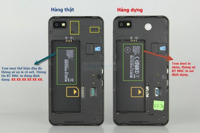 Phân biệt BlackBerry Z10 hàng dựng và xách tay