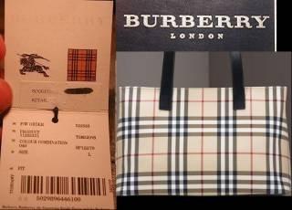 Nhận biết hàng Burberry xịn
