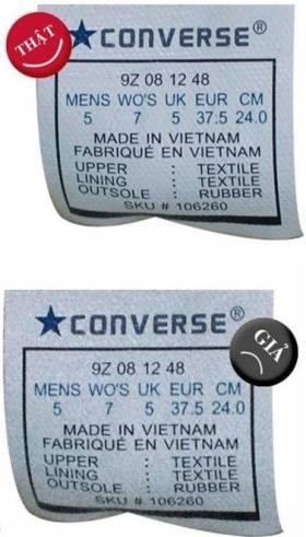 Đế giày Converse chính hãng