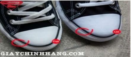 Sự khác nhau giữa giày Converse chính hãng và giày giả