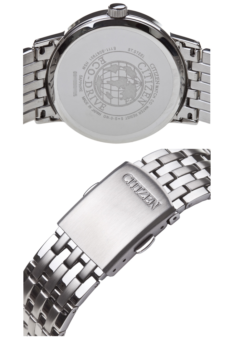 Đồng hồ Citizen mặt sau và chốt