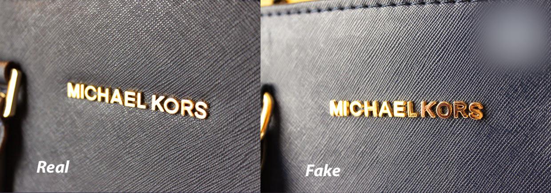 Logo cuả Túi xách hàng hiệu Michael Kors thật được đánh vần chính xác, có độ nặng và quan trọng là font chữ đúng