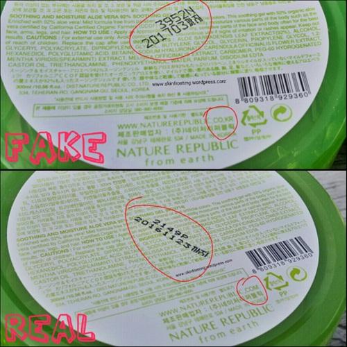 Loạt hình giúp chị em phân biệt mỹ phẩm Hàn Quốc thật - giả