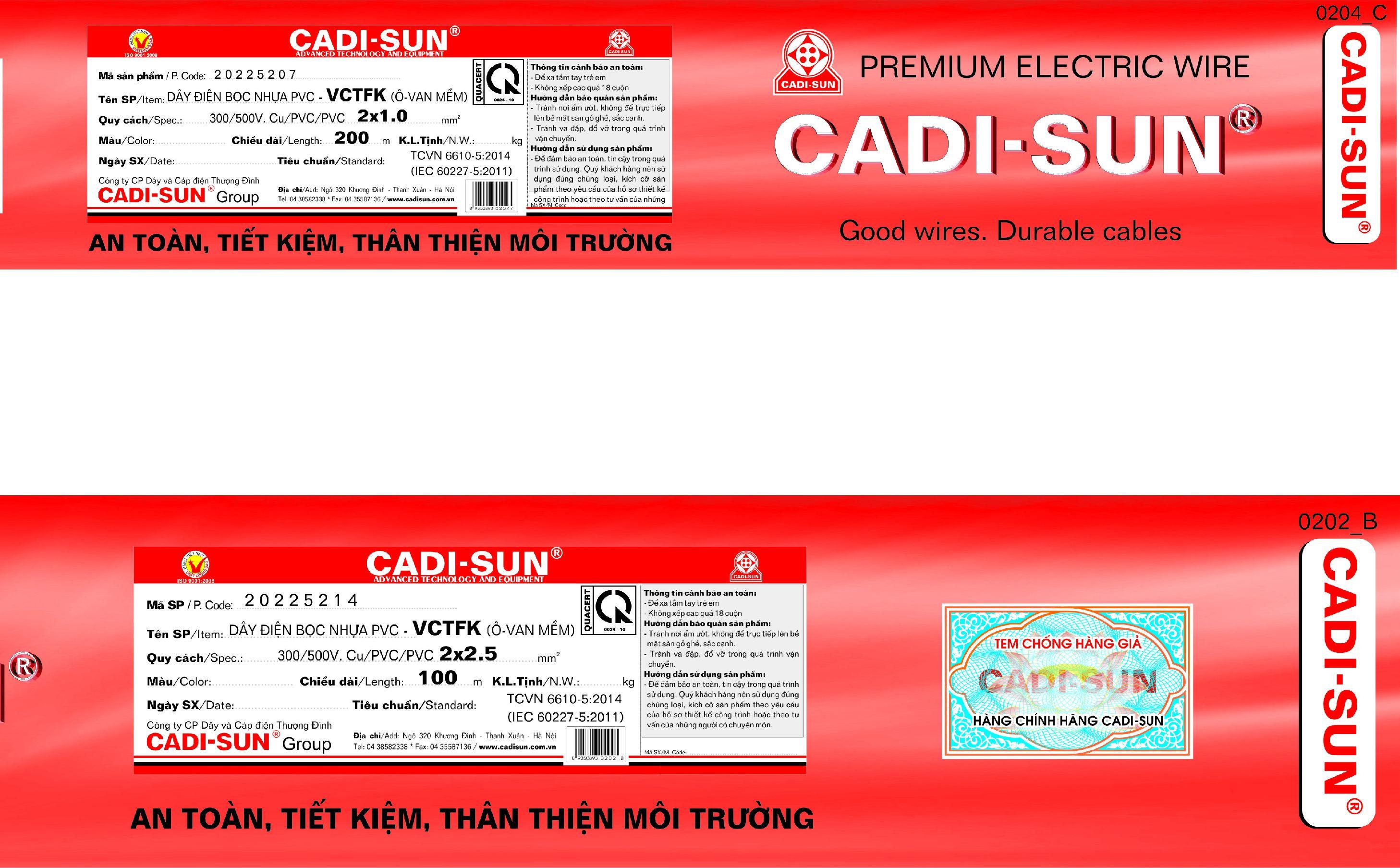 Dây điện Cadi-sun chính hãng và những cách nhận biết cơ bản - Ảnh 2