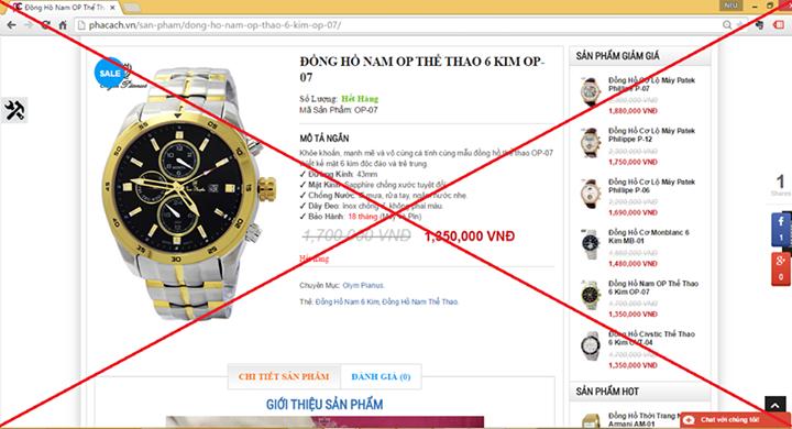 Giá đồng hồ OP fake