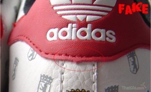 Giày Adidas Thật Giả nhận biết qua đường chỉ may