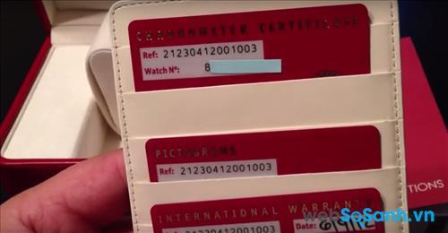 Số series của đồng hồ Omega được cấp trên tờ giấy bảo hành