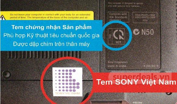 Nhận biết hàng chính hãng Sony
