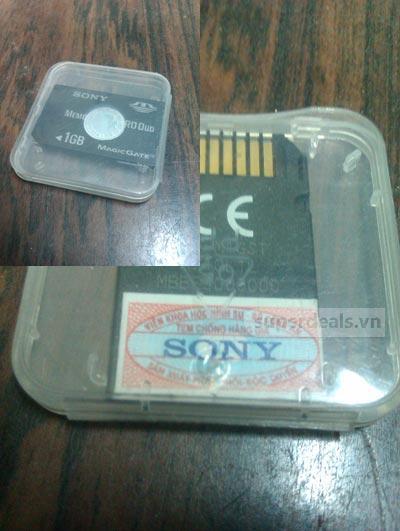 Tem chống hàng giả trên thẻ nhớ