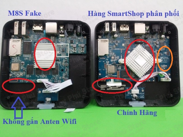 cách nhận biết Android TV Box M8S chính hãng