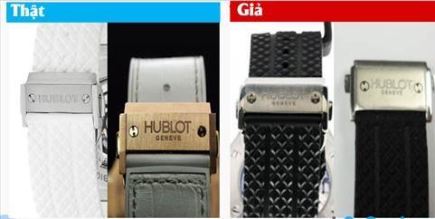 Quan sát thật kỹ dây đeo đồng hồ Hublot