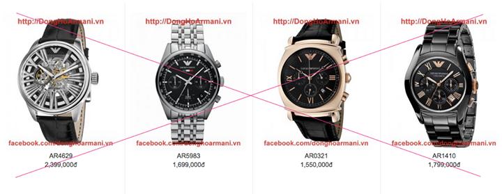 """Đồng hồ Armani """"chính hãng"""" với mức giá giật mình"""