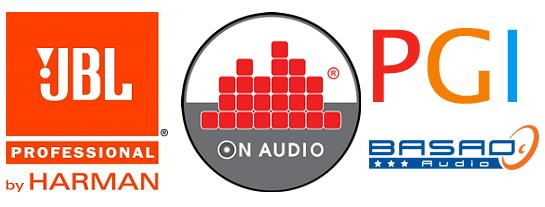 Logo JBL, Logo On Audio, Logo Basao, Logo PGI