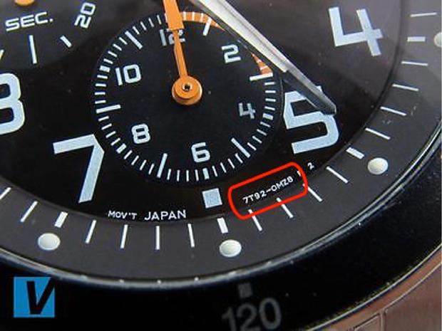 4 chữ số đầu và 4 chữ số sau trên đồng hồ Seiko nam chính hãng