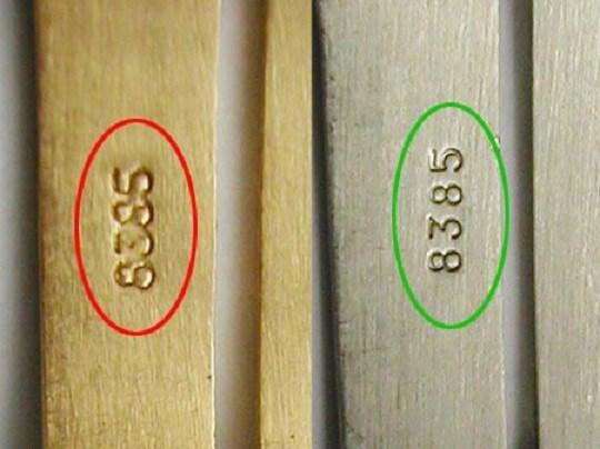 Chữ số khắc đồng hồ chính hãng sắc nét hơn