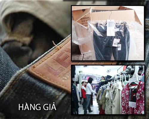 Hàng hiệu Mỹ Giả len lói trên nhiều nơi