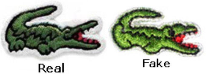 Phân biệt Giày Lacoste Thật Giả qua Logo.