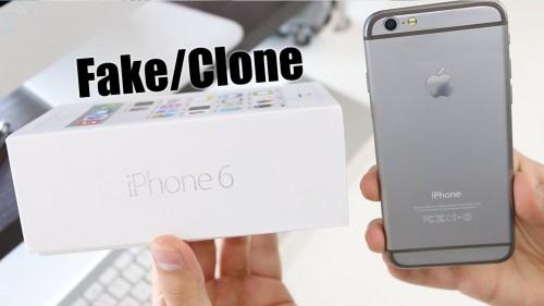 Hộp và mặt sau của iPhone 6 giả