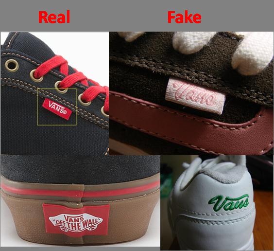 Phân biệt giày Vans Thật và Giả qua logo