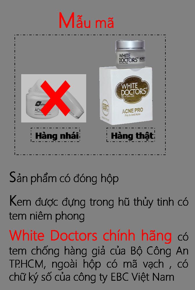 Phân biệt mỹ phẩm White Doctors Thật Giả