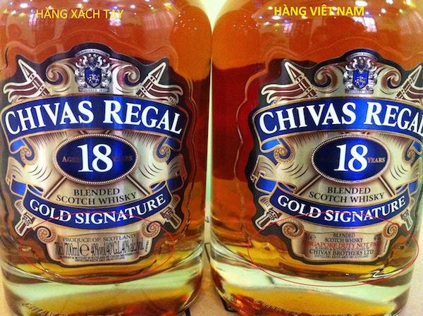Phân biệt rượu Chivas 12 Thật Giả (Phần 2)