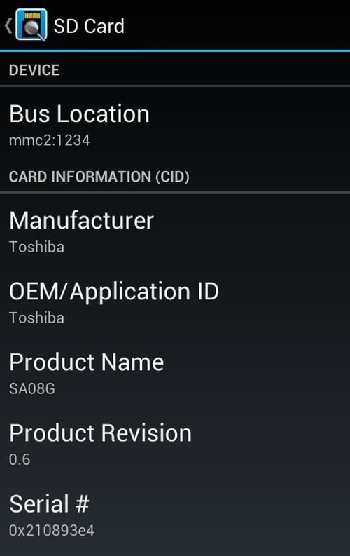 Phân biệt thẻ nhớ Giả bằng Android