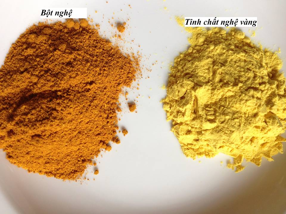 Phân biệt tinh bột nghệ vàng và bột nghệ