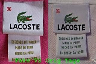 Áo thun Cá Sấu (Áo Thun Lacoste) Thật Giả phân biệt như thế nào?