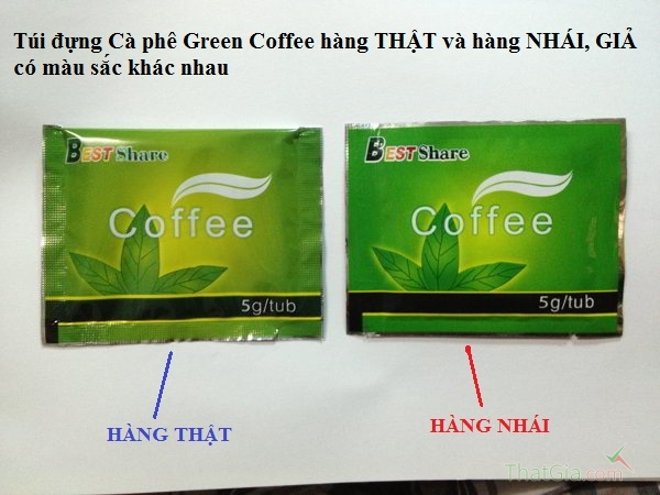 so sanh tui dung ca phe giam can green coffee that va gia