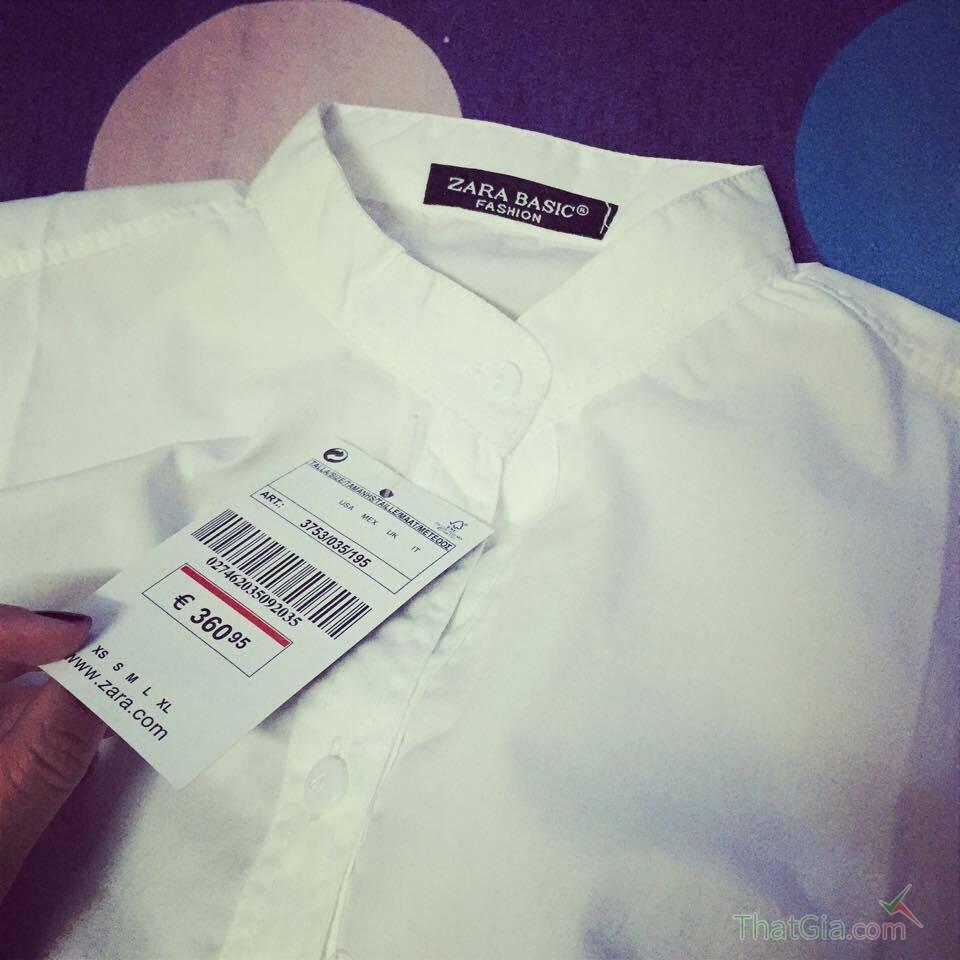 Cách phân biệt áo Zara thật và hàng fake