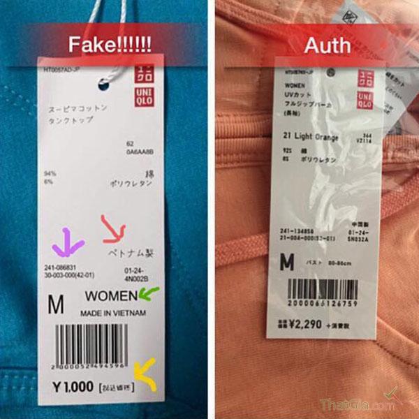 Cách phân biệt hàng Uniqlo thật và hàng fake