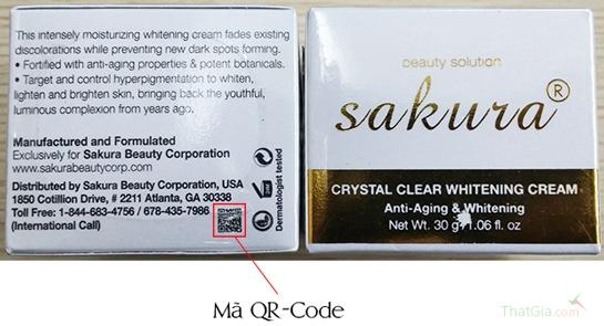Mã QR - Code của sản phẩm Sakura