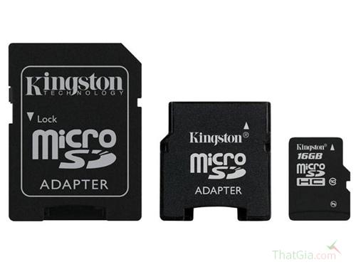 Bao bì sản phẩm thẻ nhớ Kingston luôn có nhãn số hiệu sản phẩm