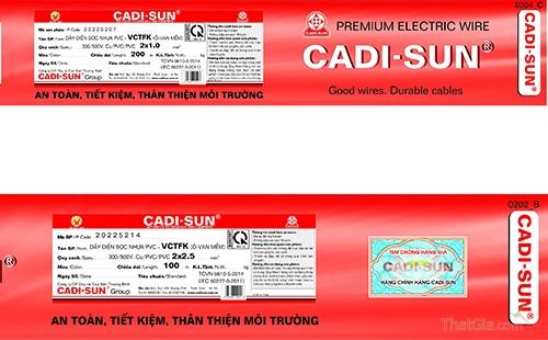 Dây điện Cadi-sun chính hãng và những cách nhận biết cơ bản