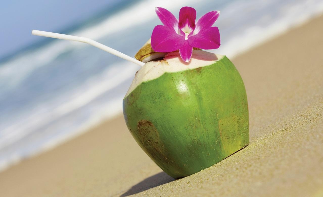 Nên chọn những quả dừa còn nguyên vỏ xanh