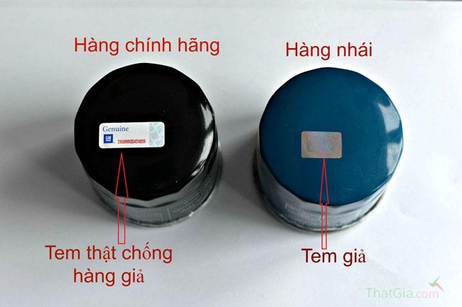 Màu sắc và tem chống giả của sản phẩm chính hãng khác với hàng nhái
