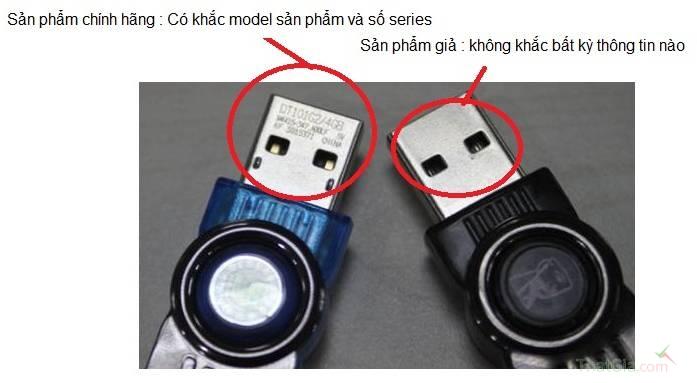 USB Kingston chính hãng khắc model sản phẩm và số series