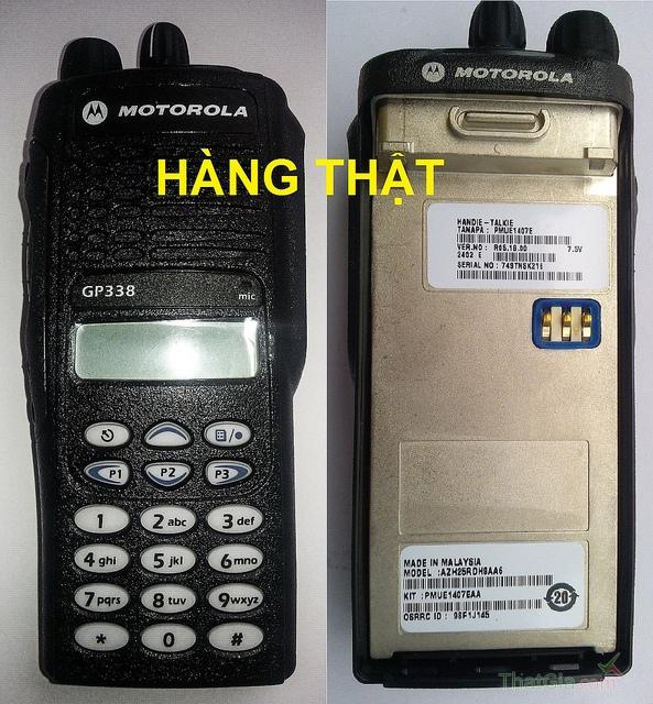 Vỏ máy và bàn phím của bộ đàm thật GP338 sắc nét