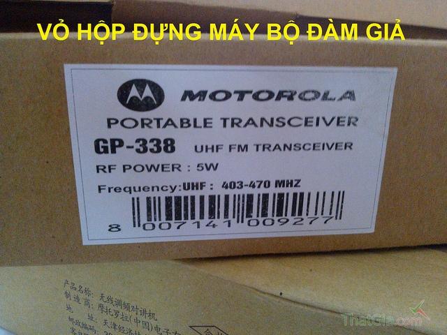 Hướng dẫn cách phân biệt bộ đàm Motorola GP338 thật và giả