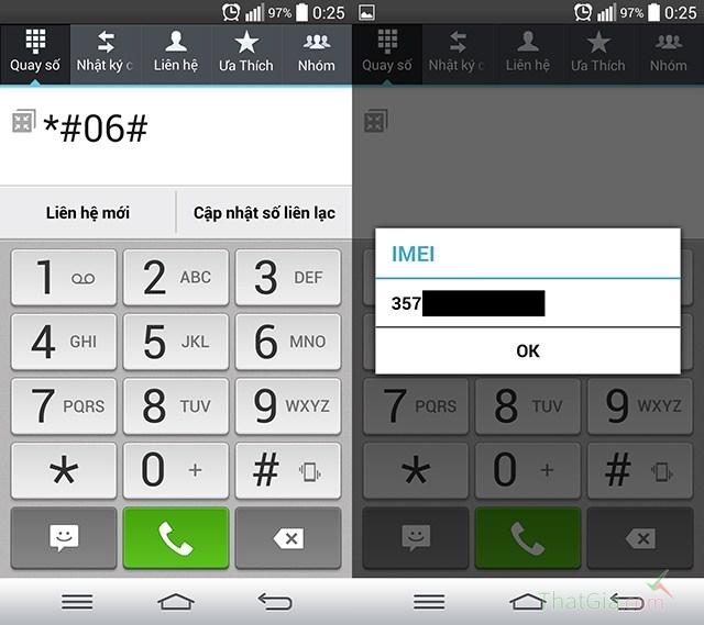Kiểm tra số IMEI trên điện thoại. (nguồn: nghenhinvietnam.vn)
