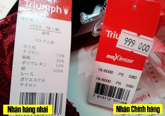 Nhãn mác của đồ lót rởm sẽ không rõ ràng về các thông tin chi tiết của sản phẩm