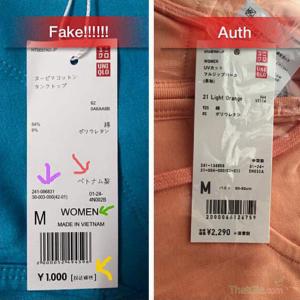 Phân biệt Uniqlo Thật Giả thông qua tem mác sản phẩm