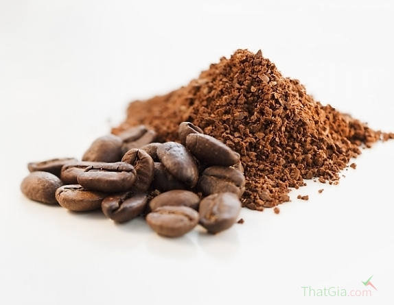 Bột cà phê có độ xốp, tơi
