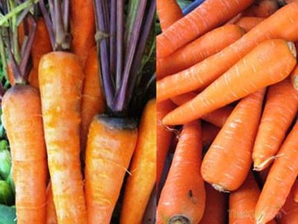 Nhận biết cà rốt, bắp cải, hành tây ta và Trung Quốc