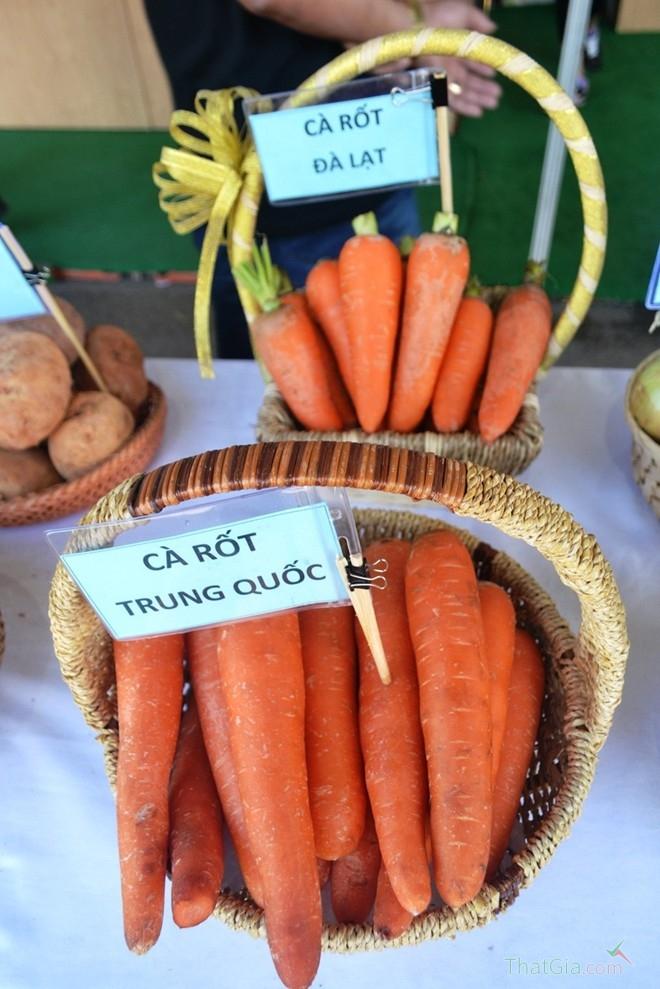 Cà rốt Trung Quốc có màu sẫm hơn