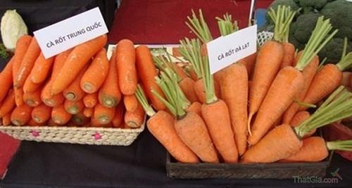 Cà rốt Trung Quốc và cà rốt Đà Lạt