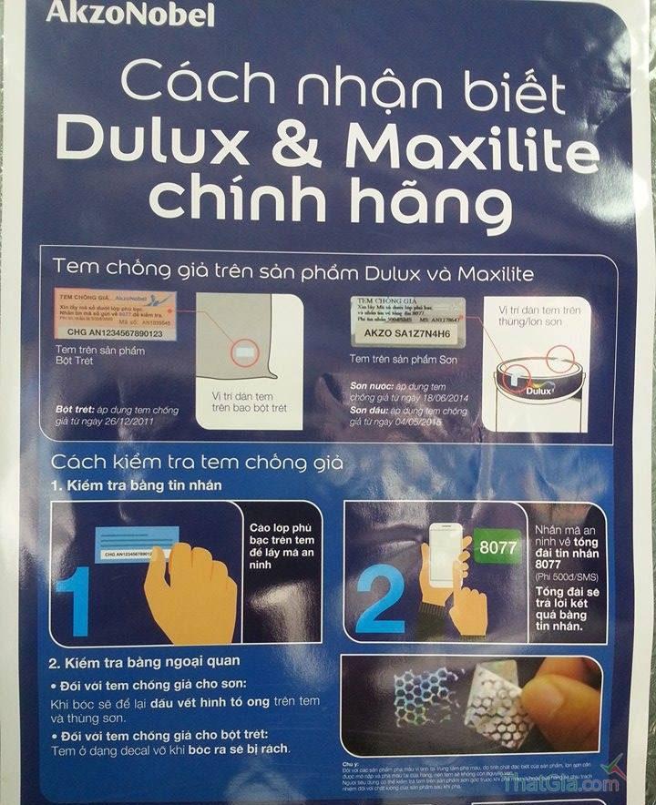 Nhận biết sơn Dulux Thật và Giả