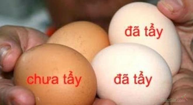 Nhận biết trứng gà bị tẩy trắng như thế nào?