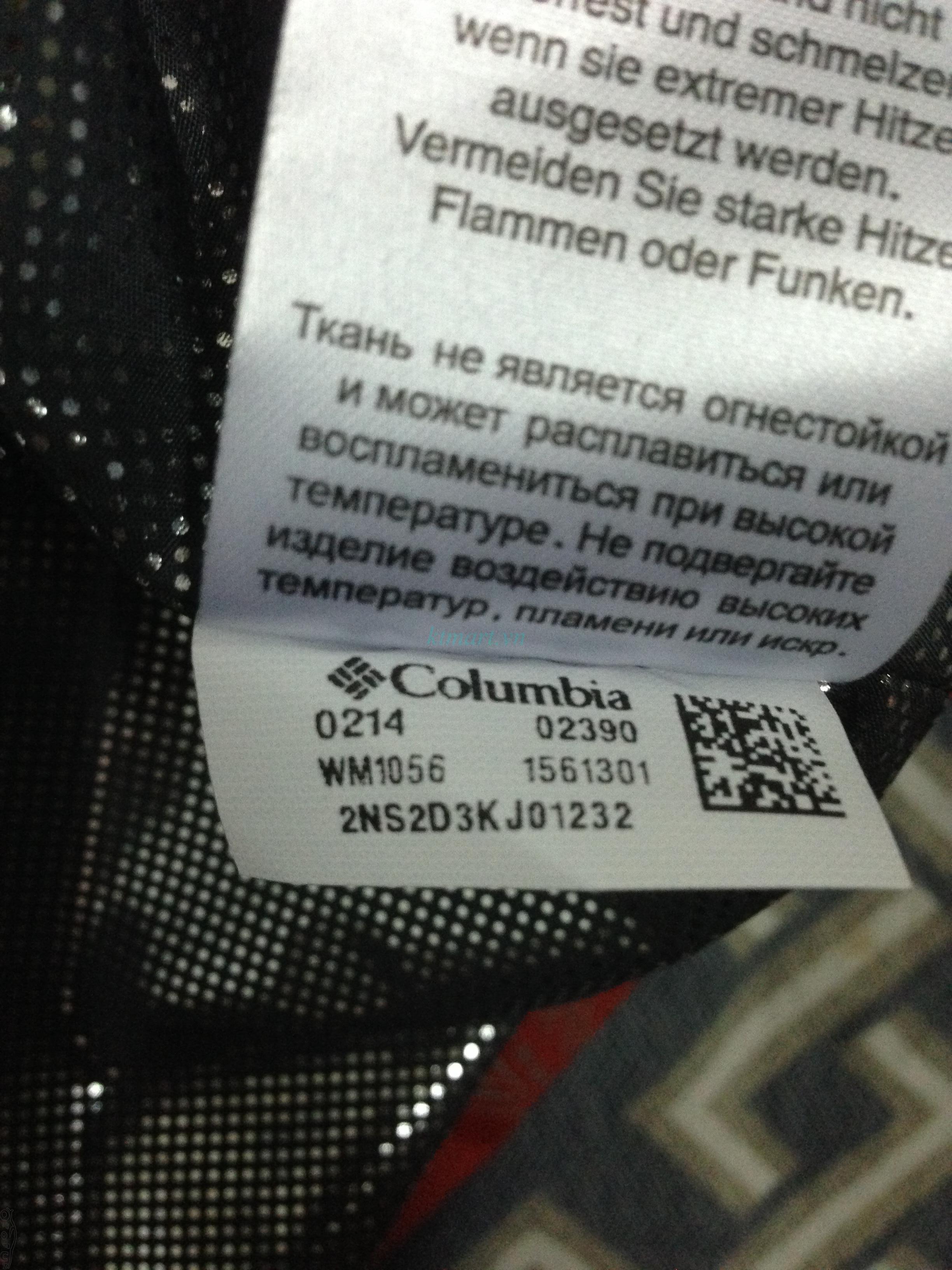 Phân biệt áo Columbia Sportswear Chính hãng