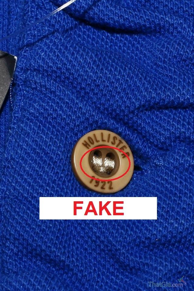 Dấu hiệu nhận biết áo Hollister Giả